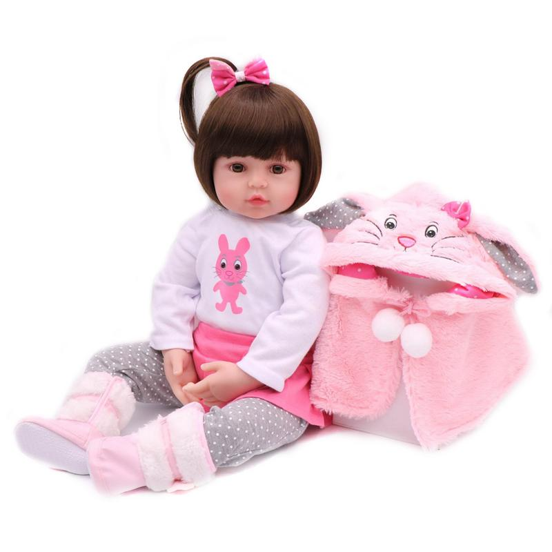 48cm Brown Eyes SD Doll Fashion Baby Simulation Doll Rebirth Doll Bedtime Educational Toys For Children Birthday Gifts48cm Brown Eyes SD Doll Fashion Baby Simulation Doll Rebirth Doll Bedtime Educational Toys For Children Birthday Gifts