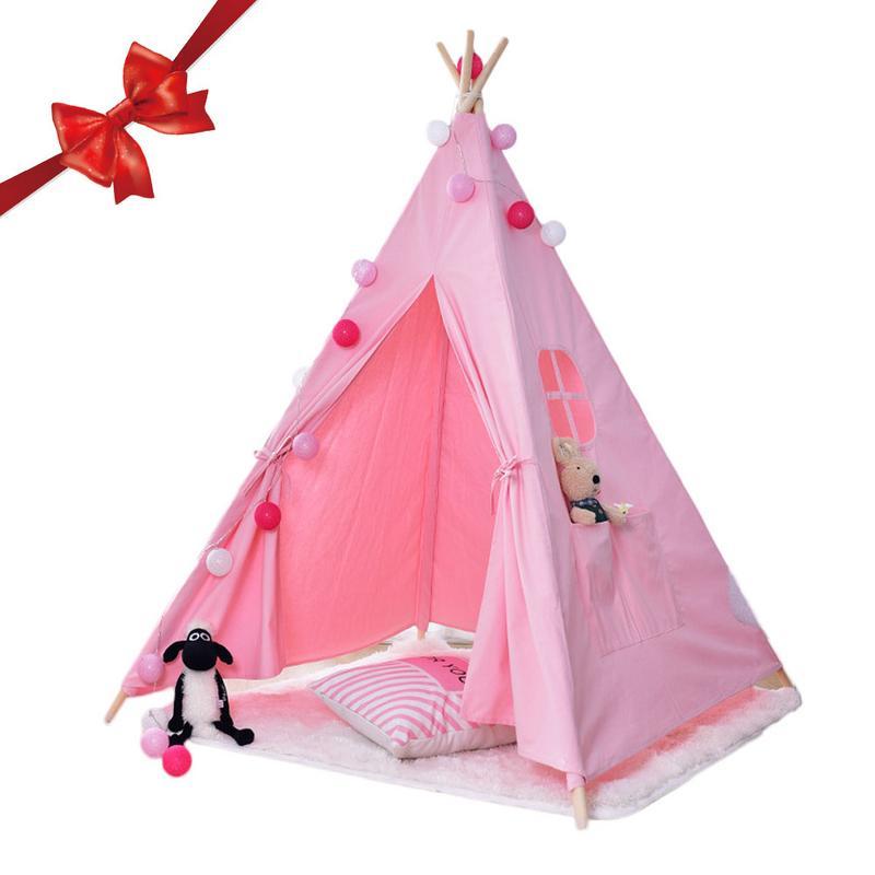 Rose indien jouer Tipi tente en bois ferme enfants enfants Tipi tente Tipi tente jouet tente à l'extérieur à l'intérieur jouer