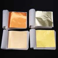 100 blätter Silber Gold Folie Papier Hause DIY Gold Folie Blatt Blätter Vergoldung Handwerk Papier für Hochzeit Geburtstag Party Dekoration