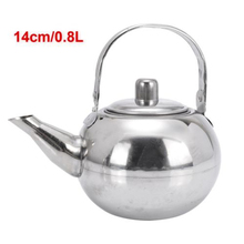 Stainless Steel Teapot Coffee Pot W font b Tea b font Leaf Infuser Filter 0 8