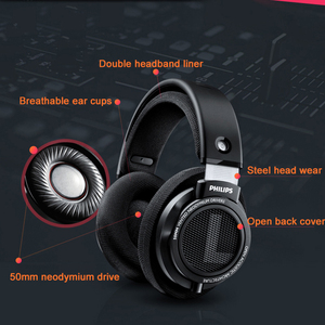 Image 4 - 원래 필립스 헤드폰 Shp9500 헤드셋 3mm 긴 와이어 소음 감소 이어폰 Mp3 스마트 폰 컴퓨터 S9 S8