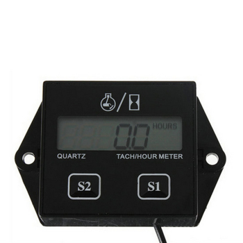 New Arrival  Display LCD Tachometer RPM Tacho Tach Gauge Spin Digital Tachometer Engine Tach Hour Meter For Car Boat Motorcycle