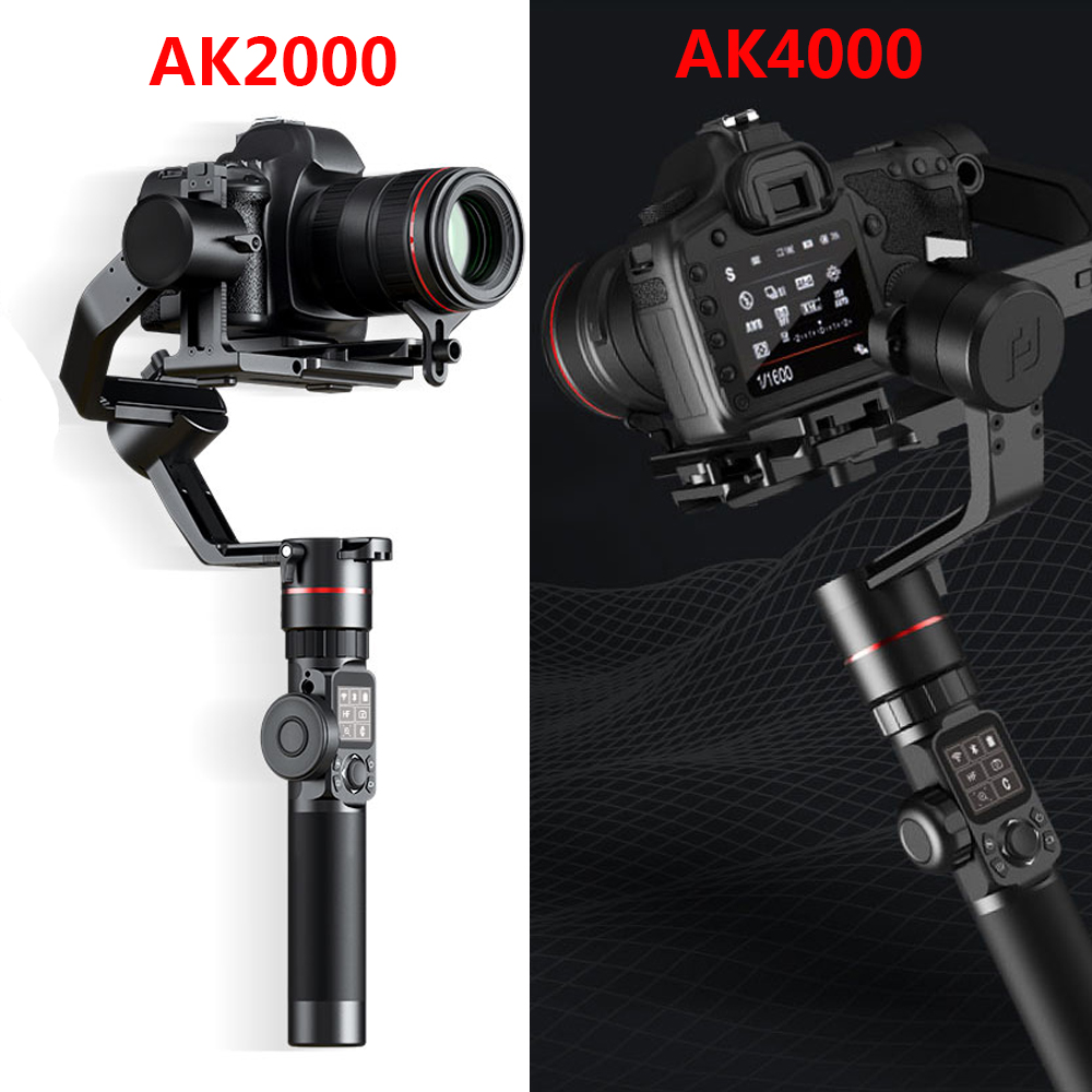 FeiyuTech AK2000 AK4000 3 As Camera Stabilizer Psp Gimbal voor Sony Canon 5D Panasonic GH5 Nikon 2.8 kg 4KG Laadvermogen Telefoon-in Handstatief van Consumentenelektronica op  Groep 1