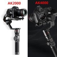FeiyuTech AK2000 AK4000 3 Axis Camera Stabilizer Handhel Gimbal for Sony Canon 5D Panasonic GH5 Nikon 2.8 kg 4KG Payload Phone