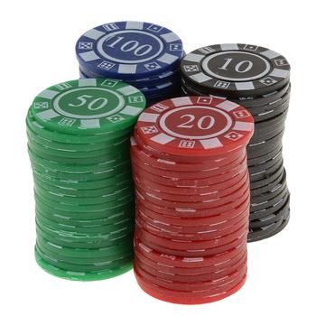 Perfeclan nowy 80 liczyć plastikowe poker chipy gra w karty-czerwony zielony niebieski czarny plastikowe poker chipy tanie i dobre opinie