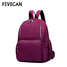 New 2019 Backpack Casual Women Nylon Waterproof Lightweight Backpacks For Teenagers Girls Travel Cycling Daily Bagpack Female