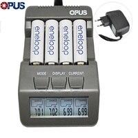 Opus BT-C700 배터리 충전기 nicd nimh led 스크린 디지털 지능형 aaa 16340 aa 4 슬롯 배터리 충전기 eu/us 플러그