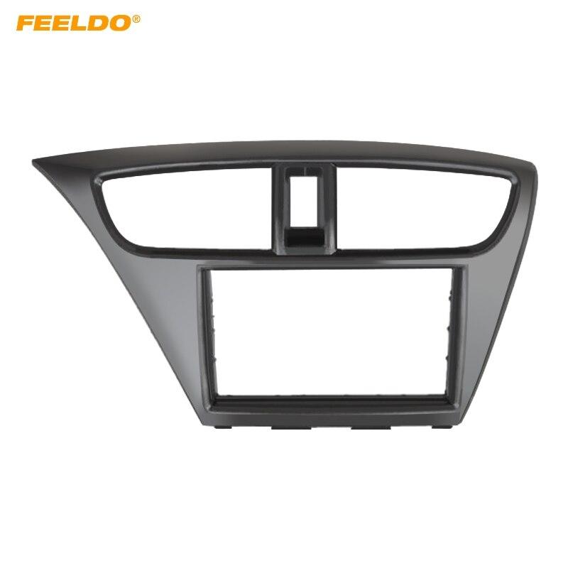 FEELDO 2Din autoradio DVD cadre de tableau de bord Fascia pour Honda Civic (européen, LHD) panneau stéréo garniture de cadre Kit de montage de cadre de plaque frontale
