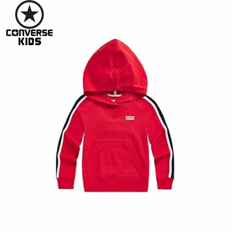 CONVERSE Children's Garment Restore Ancient Ways Hit Color Even Midnight Pure Cotton Pullover Upper Garment #81122HO003-1