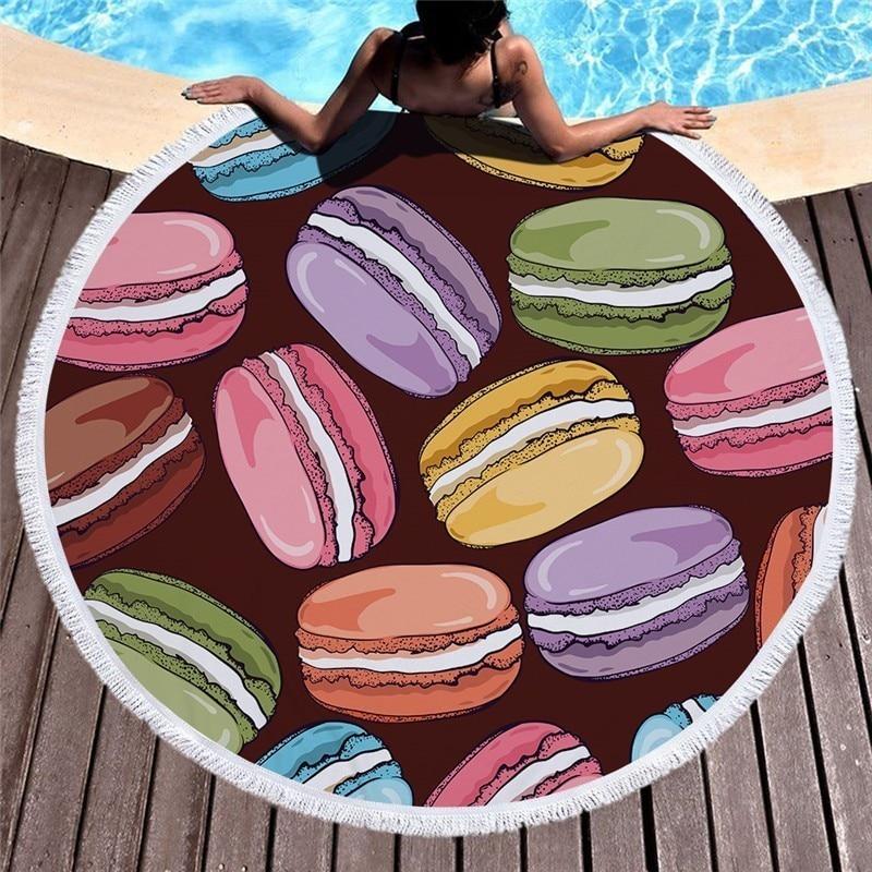 2019 Nieuwe Stijl Macaron Serie Zomer Strand Zwemmen Handdoek Strand Zonnebaden Handdoek Met Tassel Home Slaapbank Knie Deken Goedkoopste Prijs Van Onze Site
