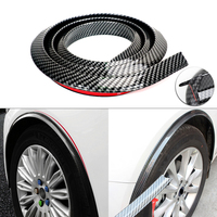 Carbon Car Styling Mouldings Strip Door Protector Moldings Bumper Protector Edge Guards Wheel Eyebrow Strip Door Sill Protector