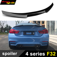 F32 spoiler Trunk Rear wing tail M4 style Carbon for bmw 420i 428i 435i 440 Rear Spoiler Trunk wing tail convertible 2 door 13+