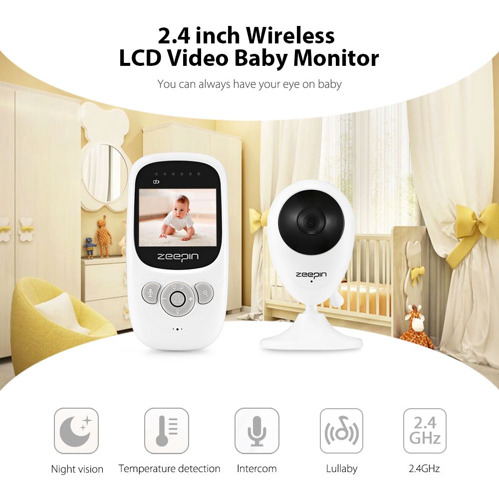 ZEEPIN Digital 2.4 Inch Wireless Infrared LCD Baby Video Temperature Detection Monitor With Night Vision Baby Sleeping MonitorsZEEPIN Digital 2.4 Inch Wireless Infrared LCD Baby Video Temperature Detection Monitor With Night Vision Baby Sleeping Monitors