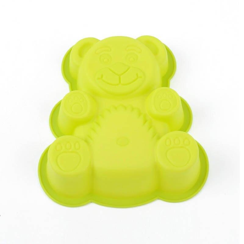 Форма для шоколада силиконовые аксессуары для выпечки инструменты для украшения торта Кондитерские помадки инструмент форма медведя из мультфильма пищевой 1 шт Формы для тортов      АлиЭкспресс