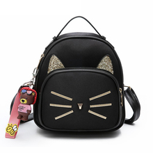 e032eda505c09 Kobiet aksamit plecak kobiet plecaki dla nastolatek dziewczyny szkoła torby  damskie małe Vintage Cat plecaki turystyczne