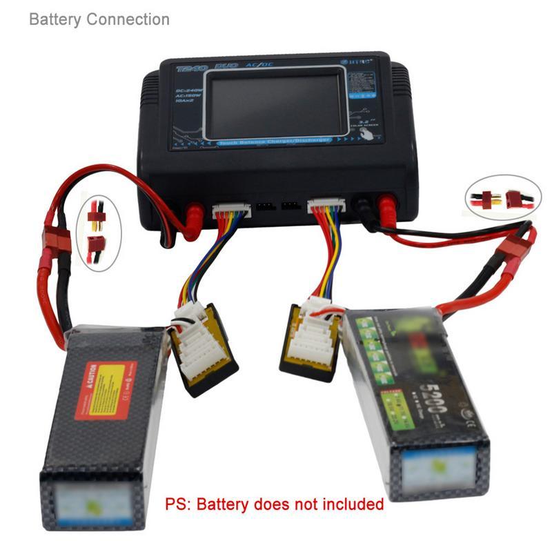 Nouveau chargeur RC Lipo HTRC T240 DUO AC 150 W/DC 240 W écran tactile double Balance chargeur pour LiPo LiHV Lilon NiCd NiMh Pb batterie - 6
