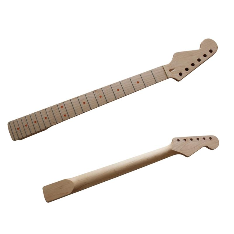 22 fret replacement maple neck left hand guitar neck for st strat electric guitar accessory. Black Bedroom Furniture Sets. Home Design Ideas