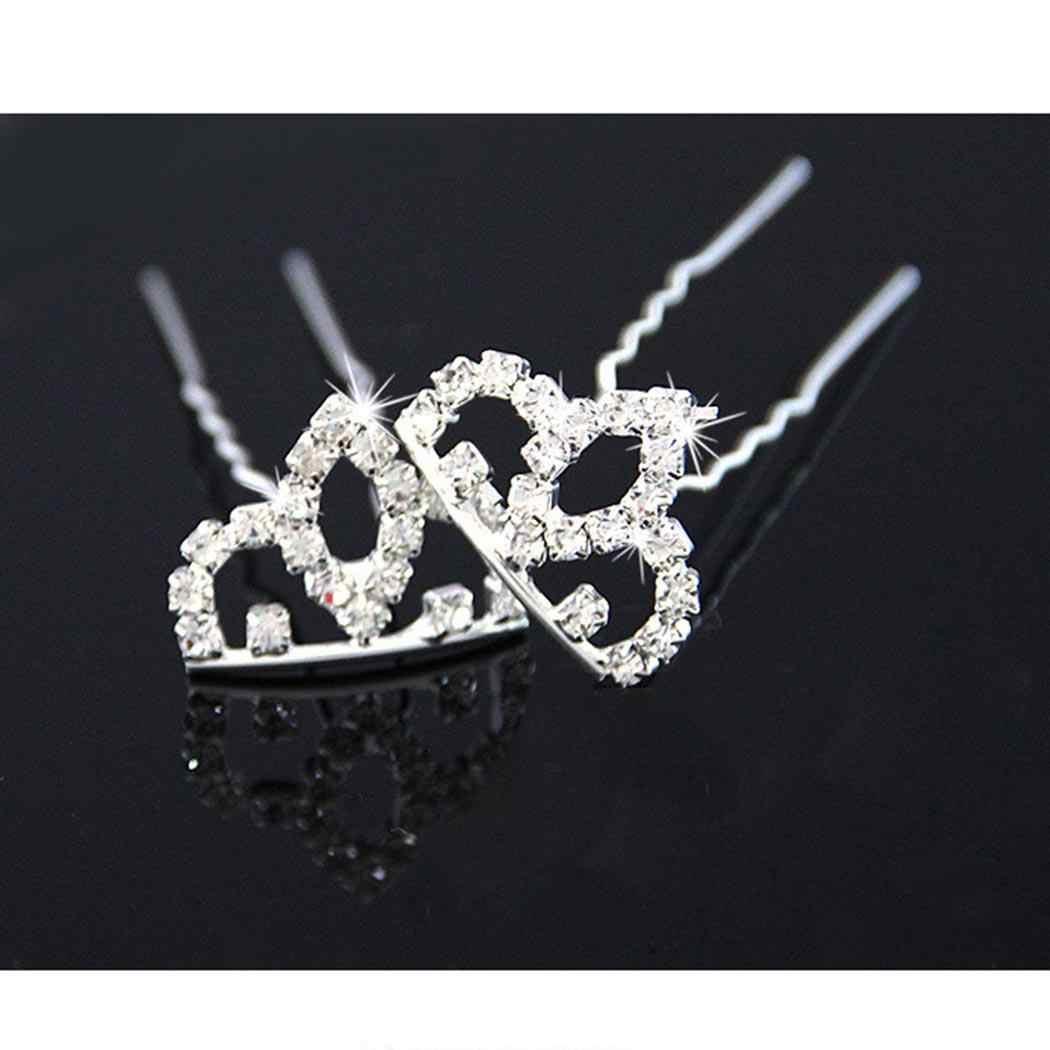 6 см 3 дюйма гребень невесты свадебный головной убор со стразами Маленькая принцесса Красота Корона Повседневное мини серебро открытый 2 Вечерние