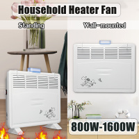 1600W 220V Household Room Heating Fan Machine Heater Wall Mounted/Standing Electric Heater Stove Radiator Warmer for Winter