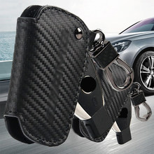 Carbon Fiber leather Key Cover Case Shell For Mercedes Benz A CLA GLA C E S AMG(China)