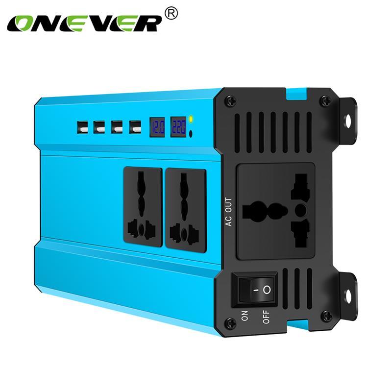 Onever 5000W Solar Car Power Inverter LED DC 12V to AC 220V 12V to AC 110V