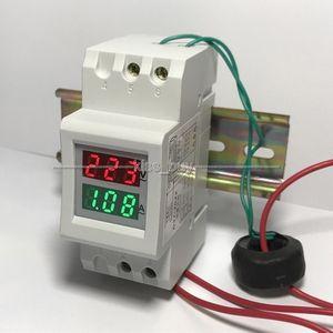 Dykb Din-Rail Ac Meter Digitale Voltmeter Amperemeter Dual Led Voltage Current Meter Transformator 80-300V 250-450V 100A 110V 220V 380V
