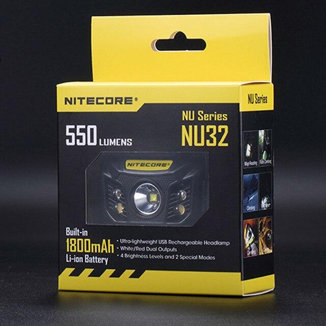 2018 Nouveau NITECORE NU32 projecteur rechargeable intégrée li-ion batterie léger USB port