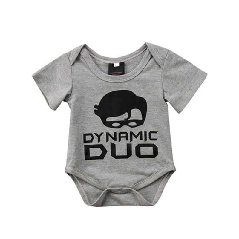2019 nueva moda de algodón familia recién nacido niños bebé Dynamic Duo Bodysuit camiseta ropa de algodón ropa de bebé niño