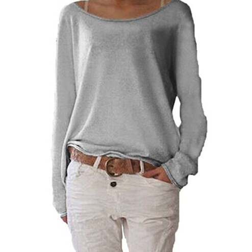 Casual Loose Ladies Long Sleeve Blouse Tops Shirt Pure Color Tops Women Clothing Blouse Fashion Summer