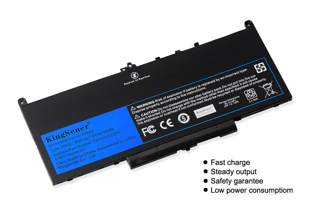 Image 2 - KingSener New J60J5 Replacement Laptop Battery For Dell Latitude E7270 E7470 J60J5 R1V85 MC34Y 242WD 7.6V 55Wh-in Laptop Batteries from Computer & Office
