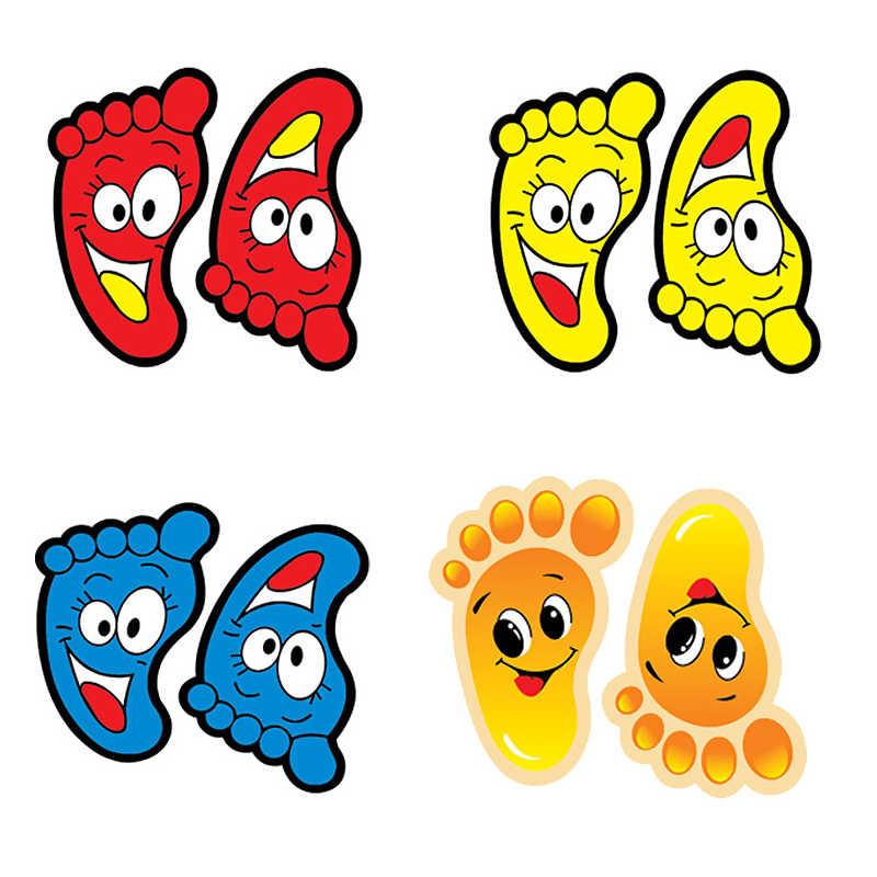 Настенные наклейки для детского сада следы украшения дома популярные милые Feeted форма для маленьких детей 2 шт./компл. мультфильм лестница