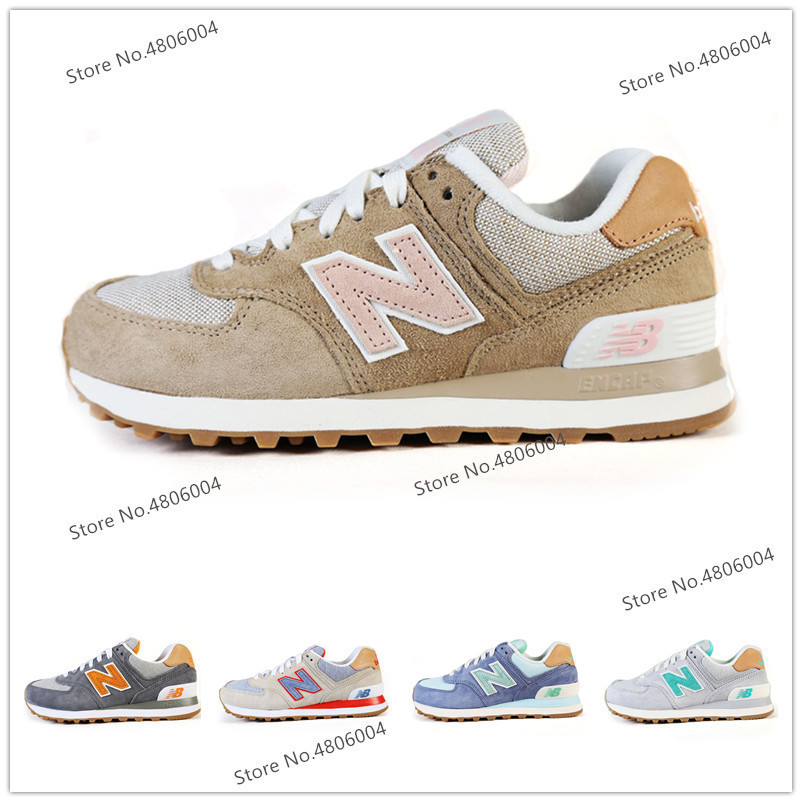 low priced 12091 8ddb4 US $44.94 21% OFF|Hot New Balance 574 Men Shoes Classics Cushion NB574  Badminton Shoes Lightweight Sneaker For Women 6 Colors Size 36 44-in  Badminton ...