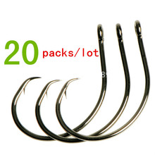 20packs/lot Mustad 39951 demon circle fishing hook sharp strong rustproof barbed hooks for sea boat fishing snap pesca anzuelos