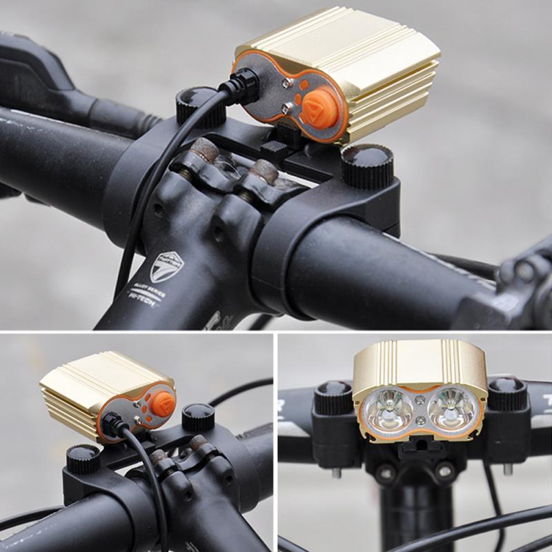 Bicycle Headlight Holder Bikes Flashlight Rack MTB Bike Light Mount Bracket Clip