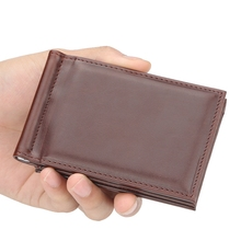 Mens Small Wallet Short Section Cross-Section Multi-Function Us Dollar Package Clips
