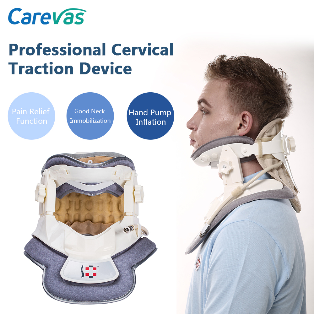 Carevas Cervical Traction Device Collar Neck Brace Support Inflatable Air & Physical Traction for Neck & Upper Back Pain ReliefCarevas Cervical Traction Device Collar Neck Brace Support Inflatable Air & Physical Traction for Neck & Upper Back Pain Relief