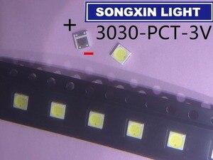 Image 1 - 2000 шт. Lextar, светодиодная подсветка телевизора высокой мощности, двойные светодиодные чипы 1 Вт, 3 в, 3030, холодный белый Телевизор PT30A66, применение 3030 pct светодиодный Диод 3 в