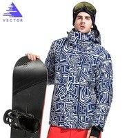 Extra Thick Warm Good Quality Ski Snow Synthetic Jacket Coat Hood Outdoor Sport Winter Men Waterproof Skiing Snowboard Windproof
