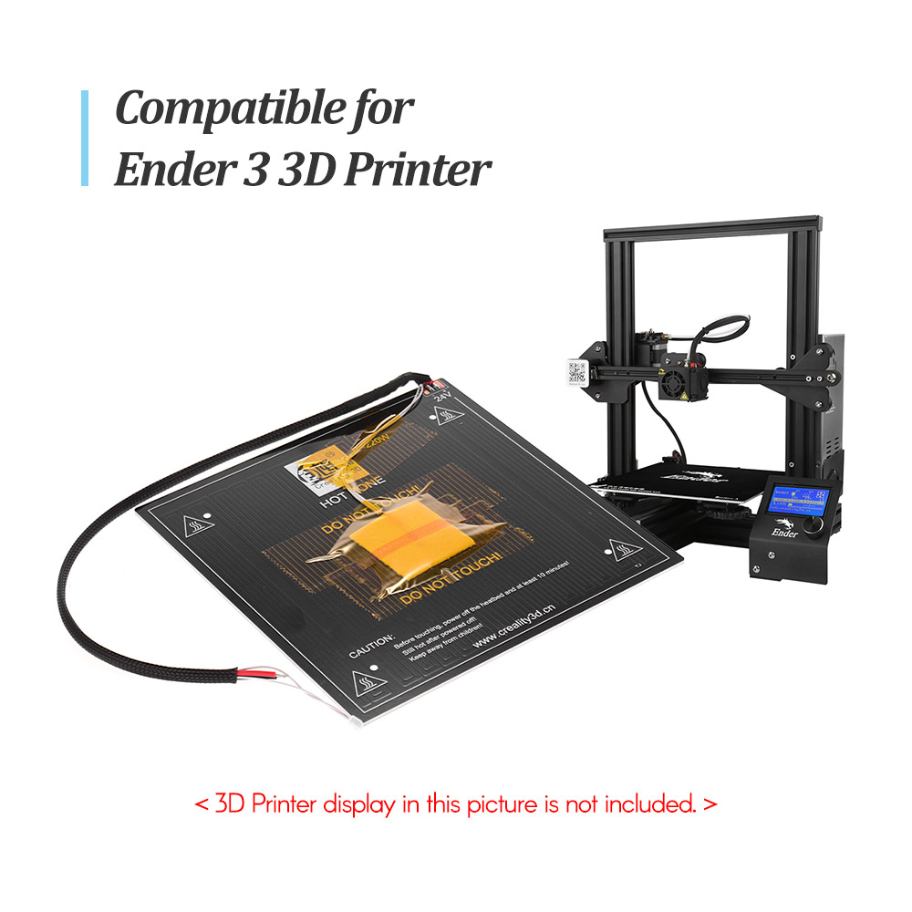 Creality 3D Aluminium MK3 Heatbed Brutstätte Plattform mit Beheizten Bett Kabel Linie für Ender 3 3D Drucker DIY Kit-in 3D Druckerteile & Zubehör aus Computer und Büro bei AliExpress - 11.11_Doppel-11Tag der Singles 1