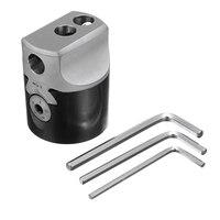 2 inch 50mm F1 Type Boorkop 12mm Draaibank Boring Bar Frezen Houder Voor MT2 MT3 R8 Schacht freesmachines + Hex Sleutels|Saai Hulpmiddel|Gereedschap -