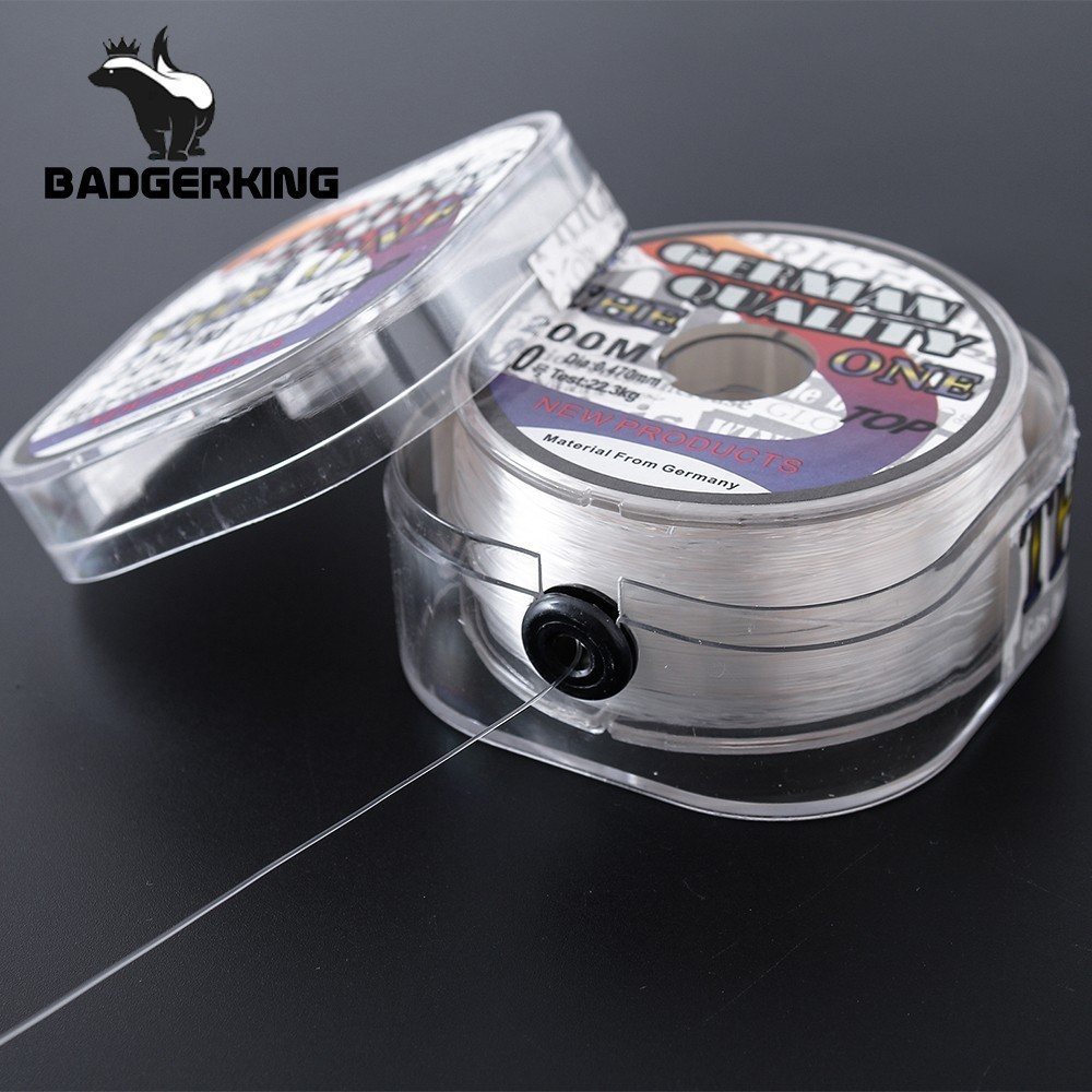 200m Fluorocarbon Coating Fishing Line White Brown Sinking High Abrasion Resistance Low Stretch Carp Mono Fishing Line(China)