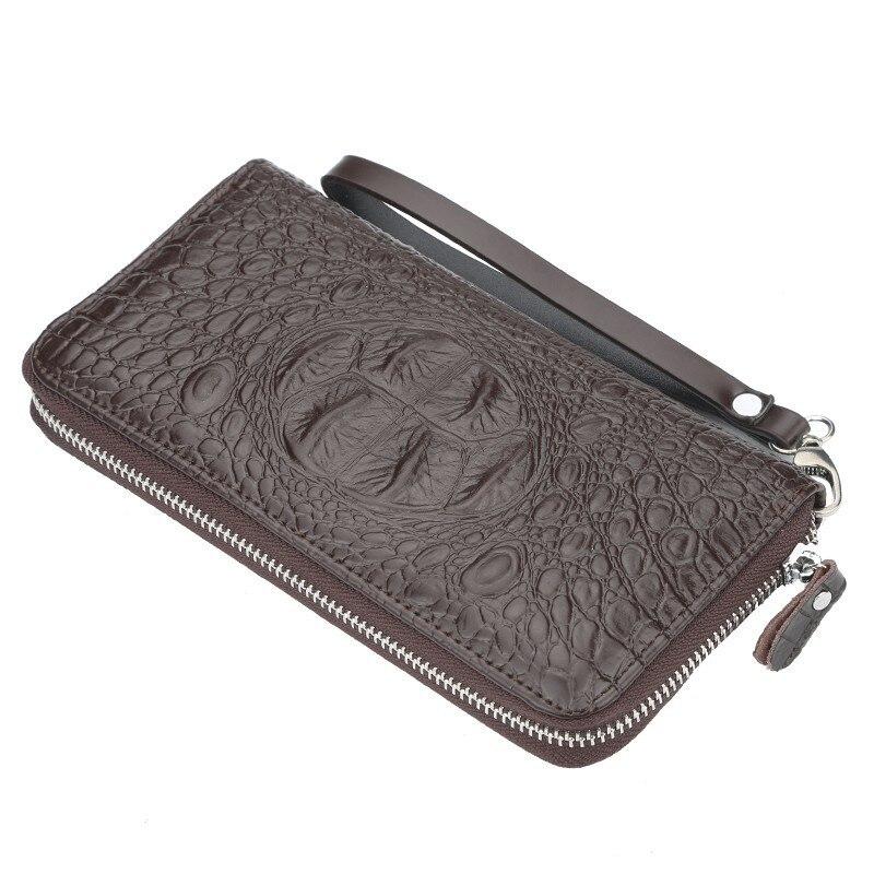 58564a27c 2019 Top Quality Leather Long Wallet Men Pruse Male Clutch Zipper Around  Wallets Men Women Money Bag Pocket Mltifunction Wallets