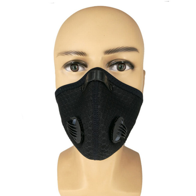 2018 Anti Dust Training Mask Cycling Masks With Filter Half Face Carbon   Mountain Bicycle Sport Road Cycling Masks Face Cover 4