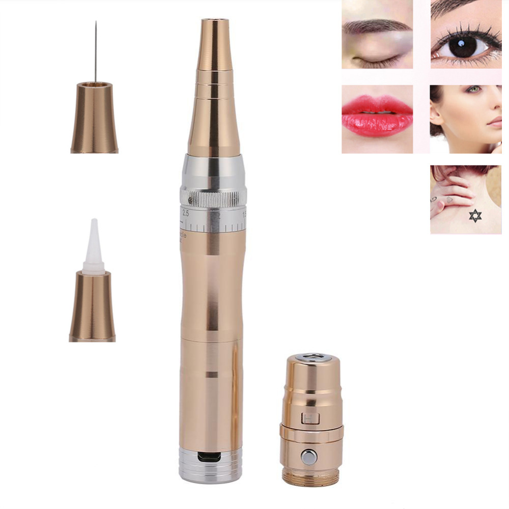 Tattoo Pen Set Permanent Makeup Eyebrow Lip Eyeliner Microblading Pen Tattoo Supplies Tattoo Machine Rotary Pen