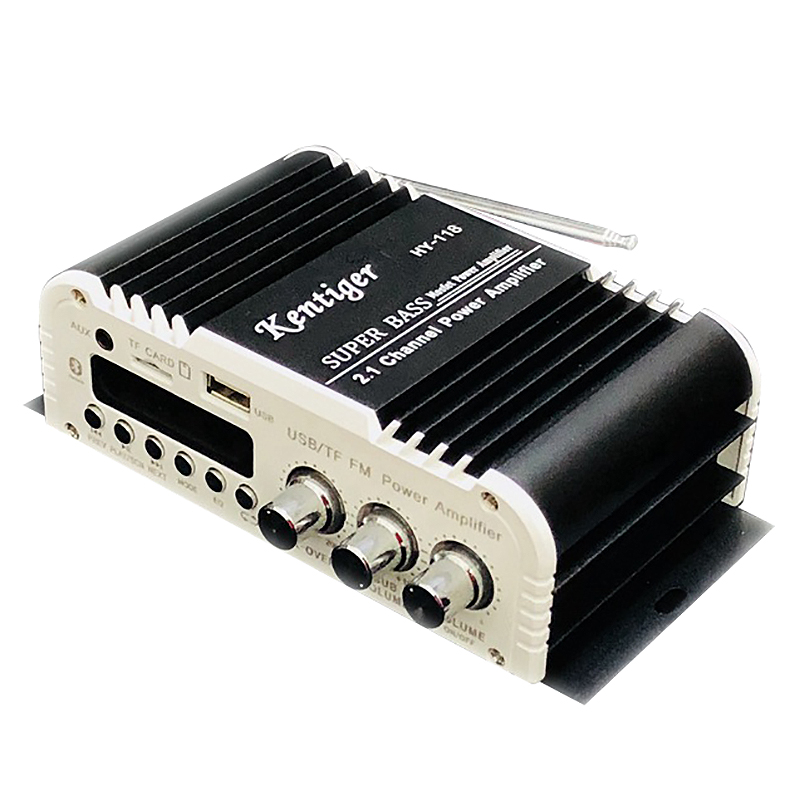 Kentiger-Hy-118 2.1 + 1 4 canais de saída subwoofer tf \ usb \ fm amplificador de potência áudio estéreo amplificador