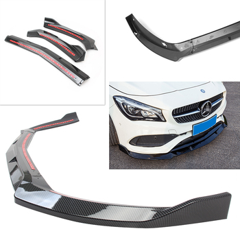 CLA 45AMG W117 2017 2018 Front Bumper Lip Cover Trim For Mercedes Benz CLA200/CLA250 2017-2018 Carbon Fiber Styling ABS Plastic