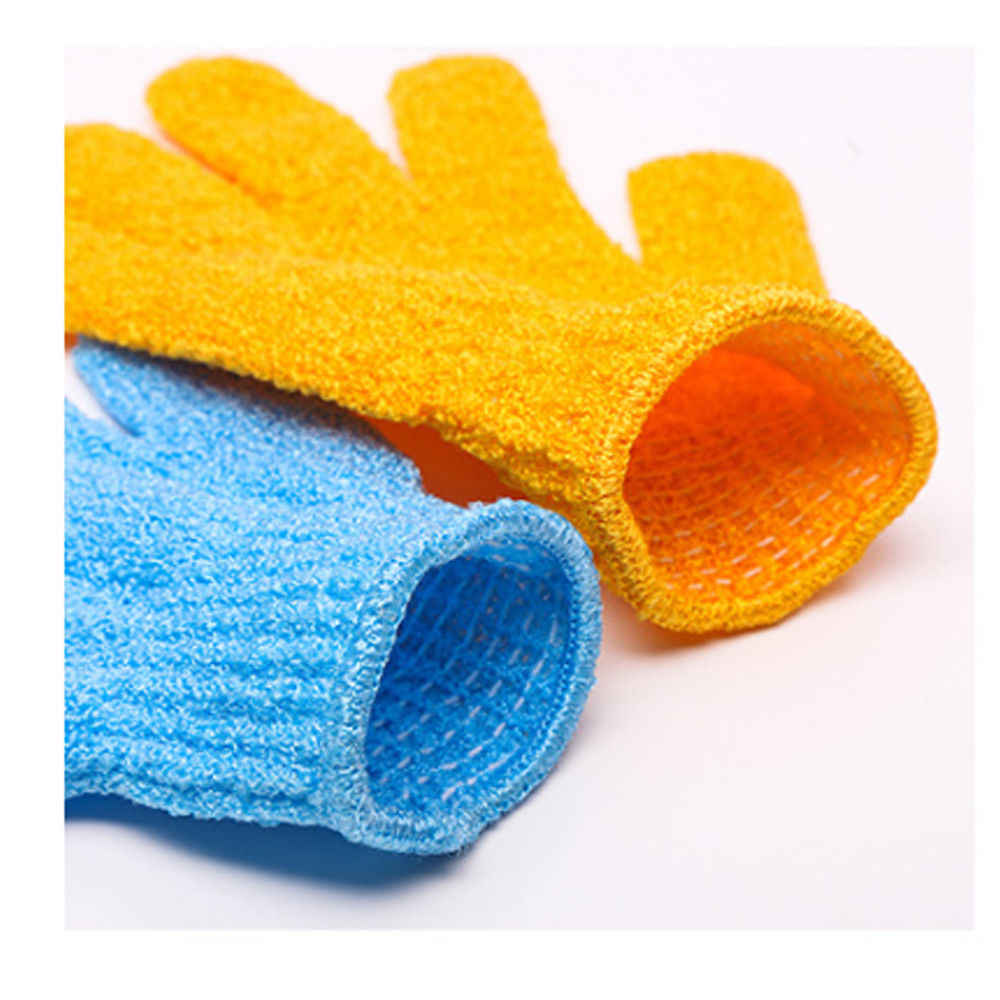 1 pc Tắm Găng Tay Tắm Tẩy Tế Bào Chết Rửa Da Spa Massage Cơ Thể Scrubber Găng Tay Tắm