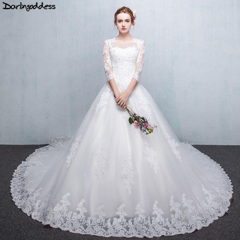 Vintage Wedding Dress 2019 Arabic Ball Gown Wedding