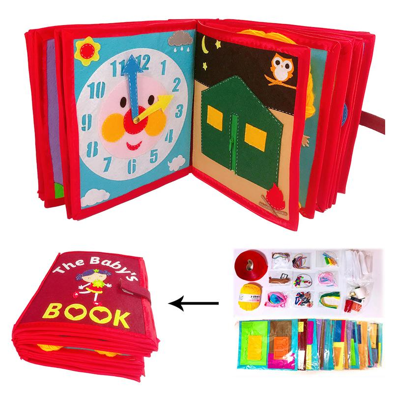 Kid's Cloth Book Non-Woven Picture Book Manual Three-Dimensional Book For Early Education Cognitive Development Reading Book