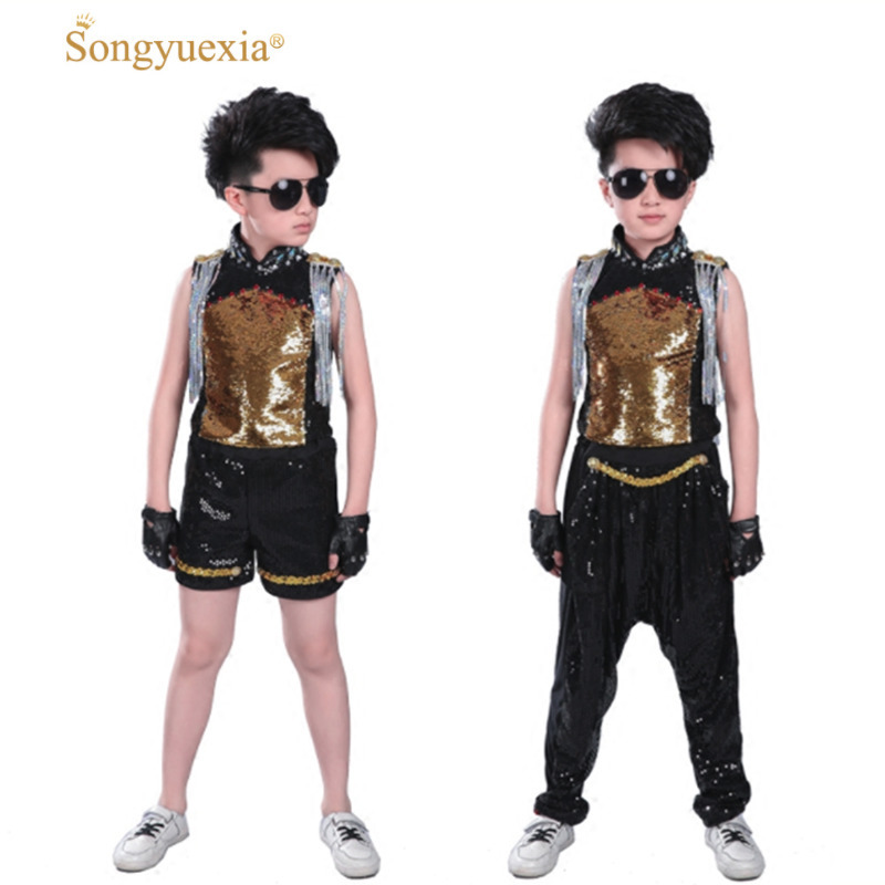 Home New Pattern Children Model Tassels Street Gigolo Child Shelf Drum Show Clothing Singer Host Performance To Have A Unique National Style